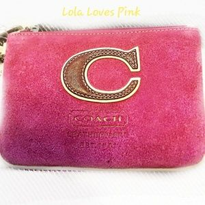 New coach pink wallet